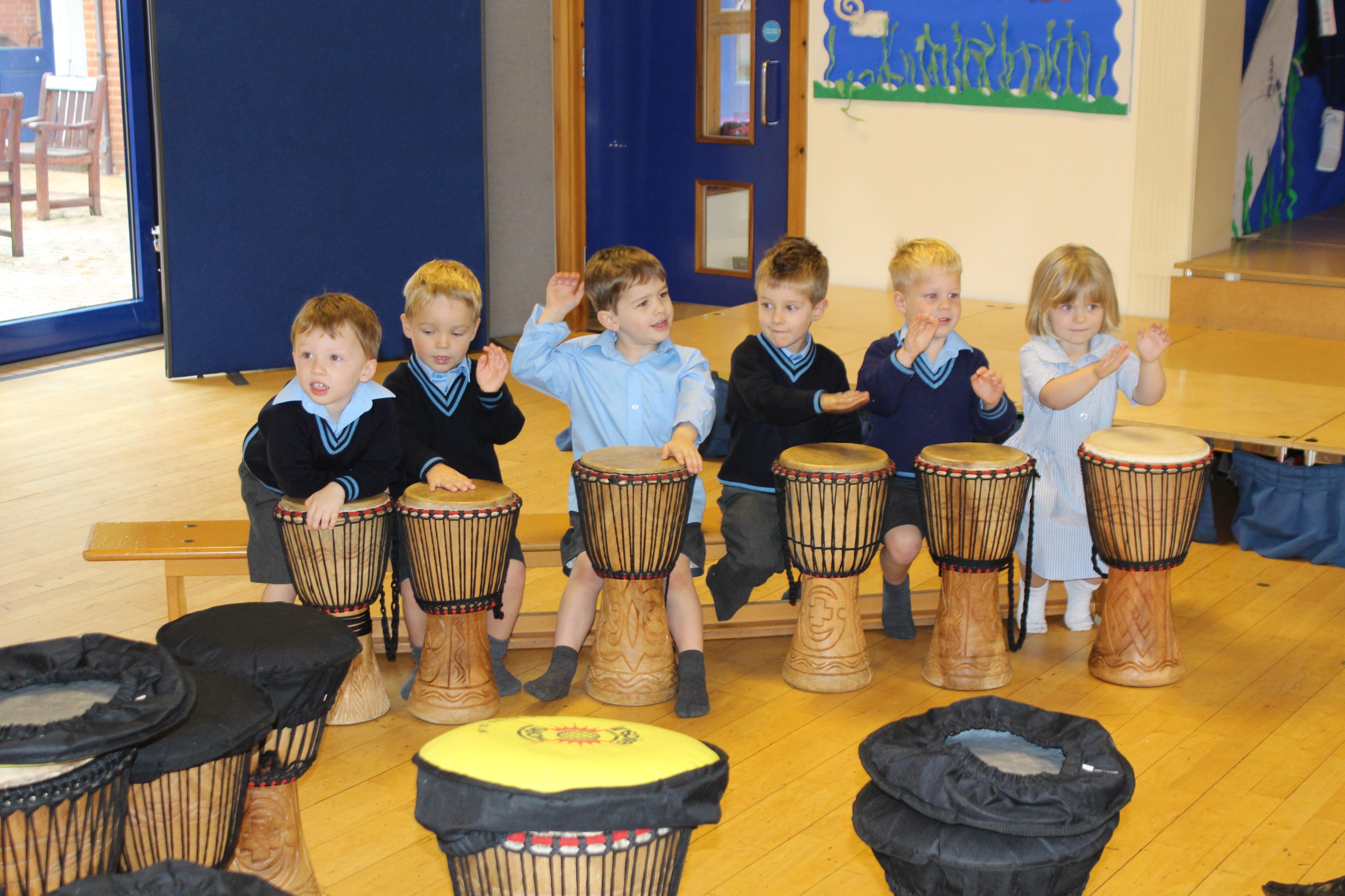 Culford School Tries African Drumming