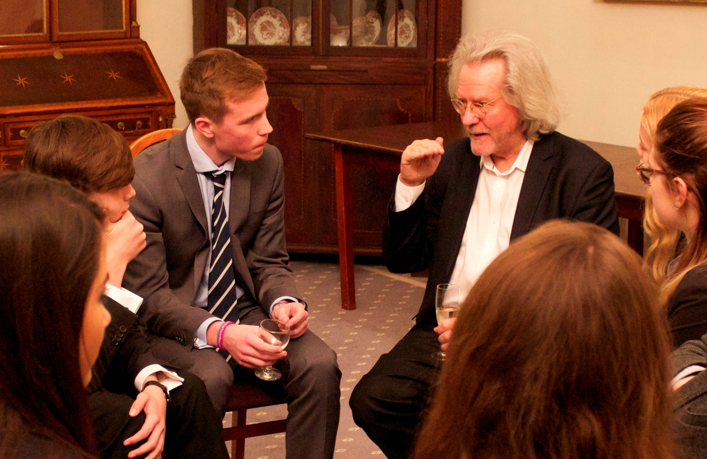 Lancing College students enjoy a stimulating and thought-provoking debate with Professor A C Grayling