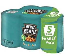 Heinz launches five-can multipacks