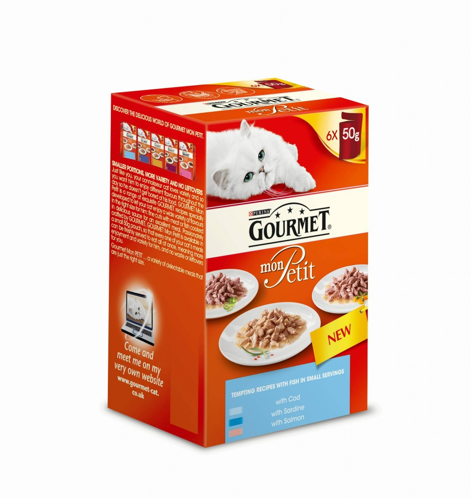 Nestl purina extends gourmet mon petit range for Purina game fish chow