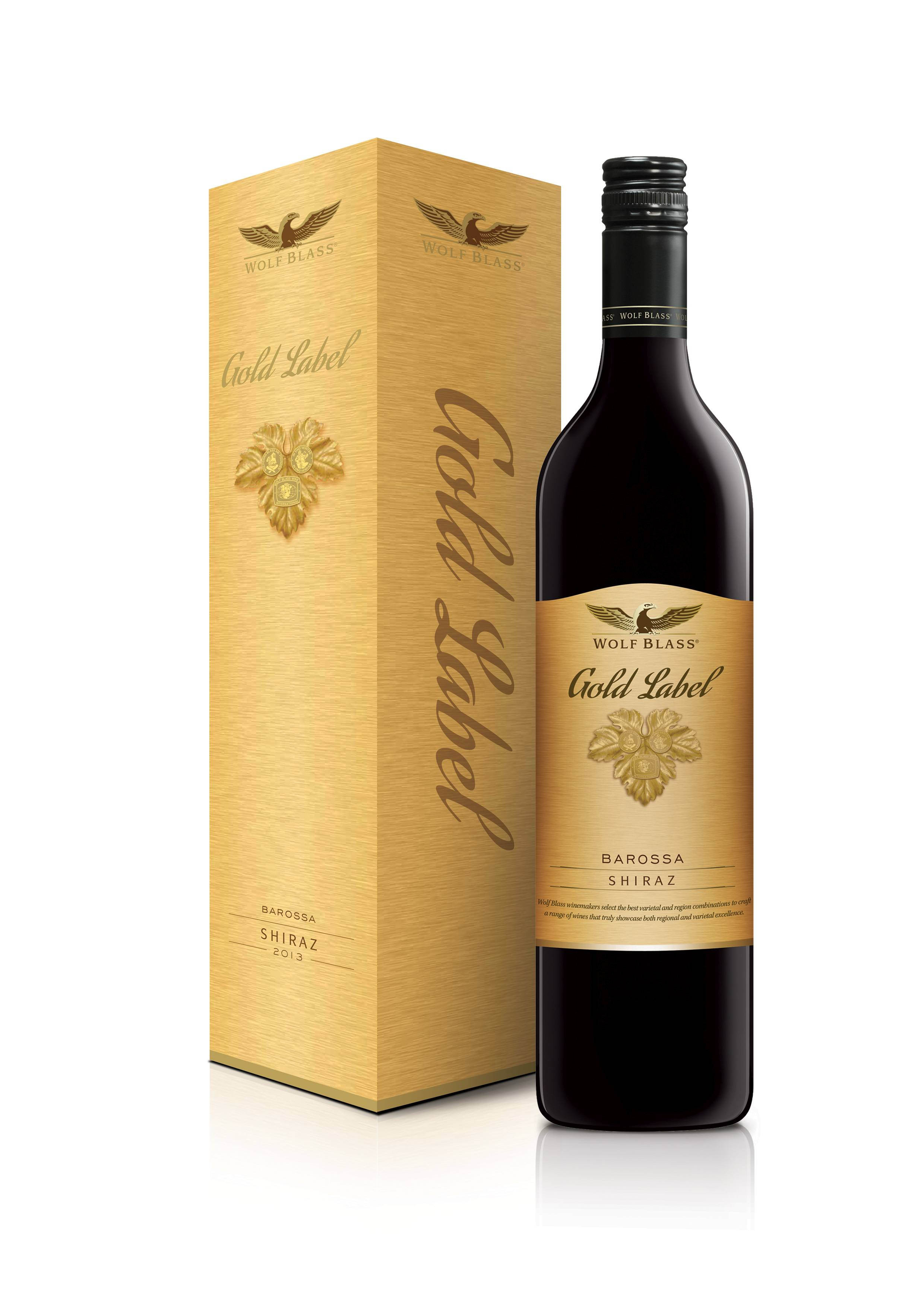 It is a graphic of Dynamite Wolf Blass Gold Label Shiraz 2015 Price