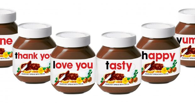 personalisation campaign from nutella. Black Bedroom Furniture Sets. Home Design Ideas