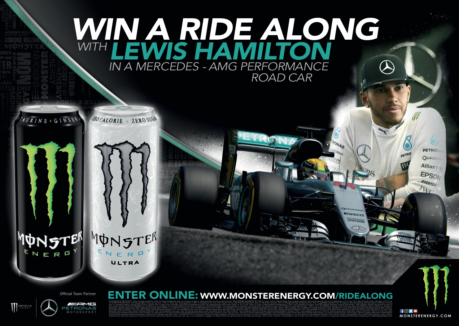 monster links up with lewis hamilton for new energy drink