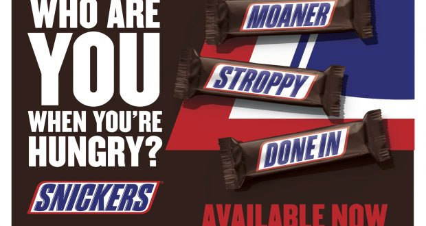 mars chocolate uk launches snickers on pack campaign
