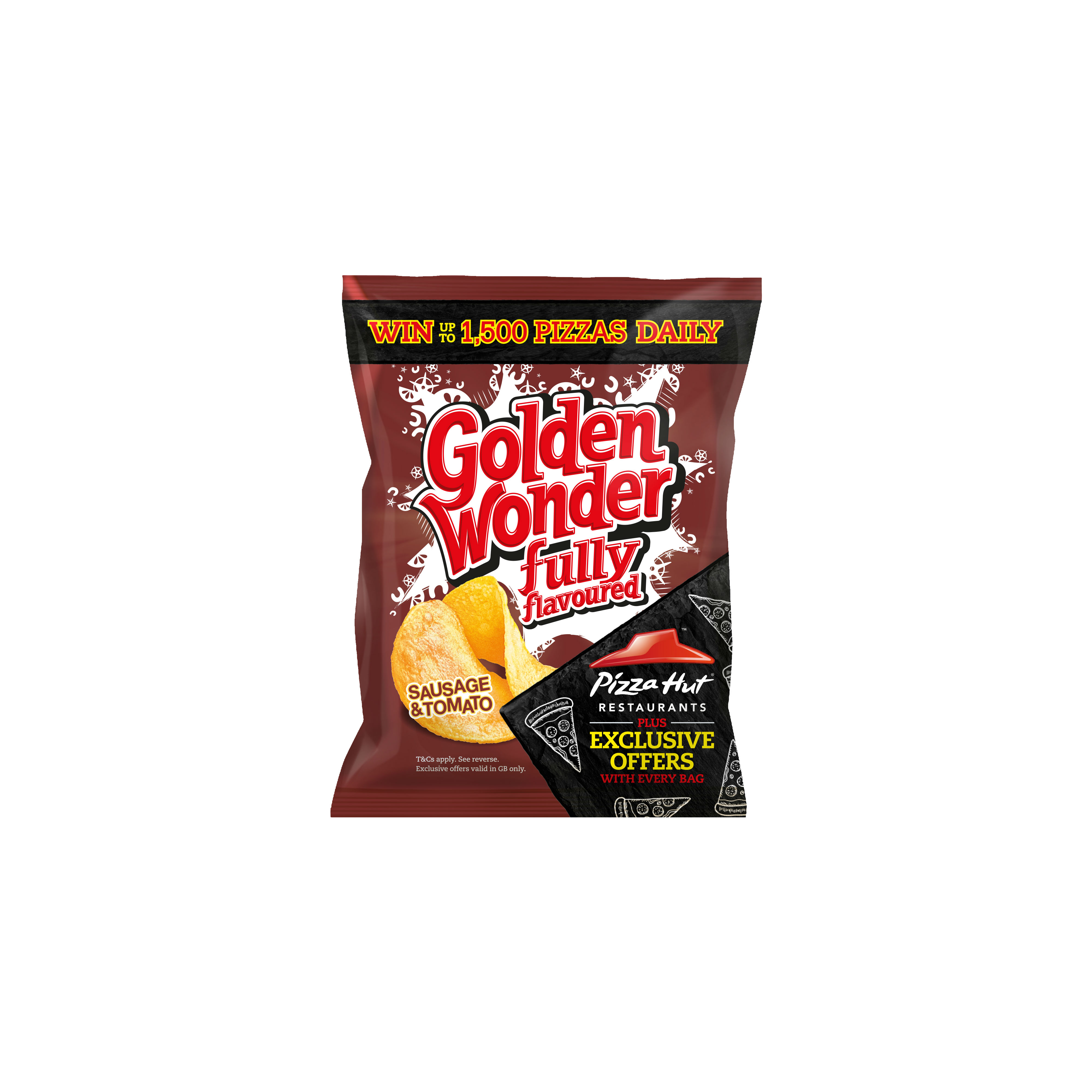 Golden Wonder partners with Pizza Hut for on-pack promotion